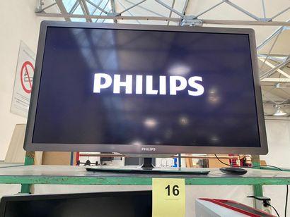 1 TELEVISEUR ECRAN PLAT PHILIPS 100 cm avec...
