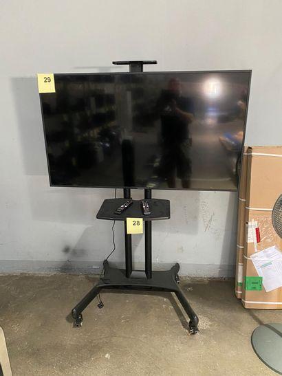 1 SUPPORT TV SUR ROULETTE (vendu sans la...