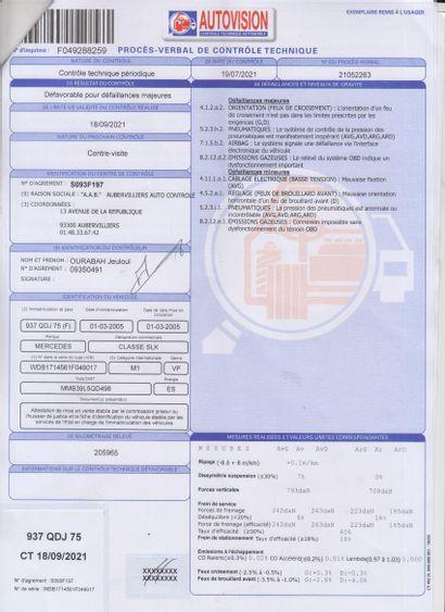 VP MERCEDES CLASSE SLK 350 CABR de couleur grise  Carburant : ES  Puissance Administrative...