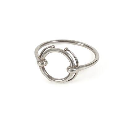 HERMES Paris  Bracelet rigide en argent....