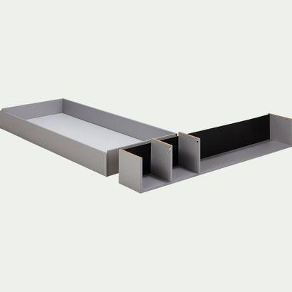 1 x Tiroir et niche pour lit 140cm - gris...