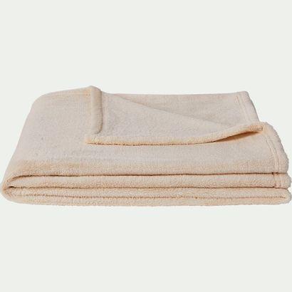 1 x Plaid effet polaire en polyester - beige roucas 130cm x 170cm  Prix public :...