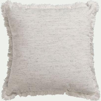 4 x Coussin chiné ZHALE en coton - blanc...