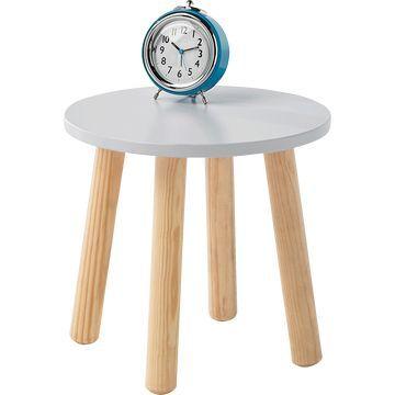 1 x Table de chevet avec piètement en pin...