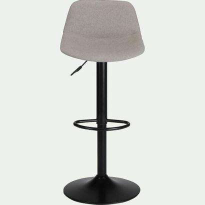 2 x Chaise de bar SENANQUE pivotante en tissu...