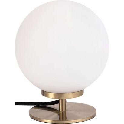 1 x Lampe à poser métal laiton brossé / verre...