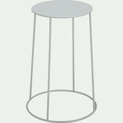 1 x Table d'appoint de jardin - gris vesuve...