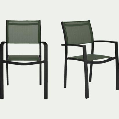2 x Chaise de jardin ELSA en textilène empilable...
