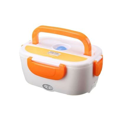 1 xOrange - Lunch box with mains plug + cigar...