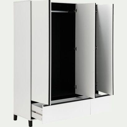 1 x Armoire 3 portes et 2 tiroirs avec miroir...