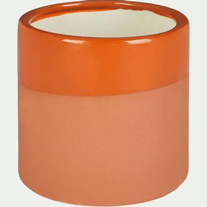 4 x Cache-pot Marco en céramique orange H13...