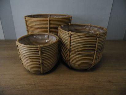1 x Lot de 3 cache-pots MICA Décoration 1(H38...