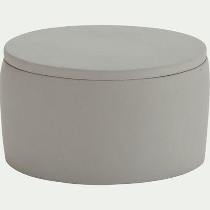 6 x Boîte à coton Bory en ciment Gris restanque...