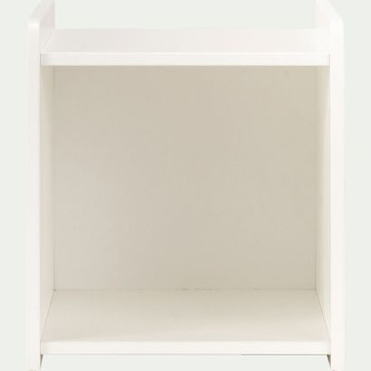 1 x Table de chevet chambre enfant avec niche - blanc  L36,8cm H42cm P40cm  Prix...