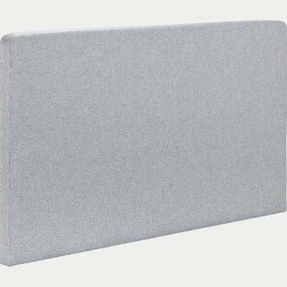 1 x Tête de lit droite L190cm H110cm P10cm gris clair  Structure en bois massif,...