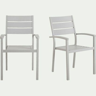 2 x Chaise de jardin Maria empilable avec...