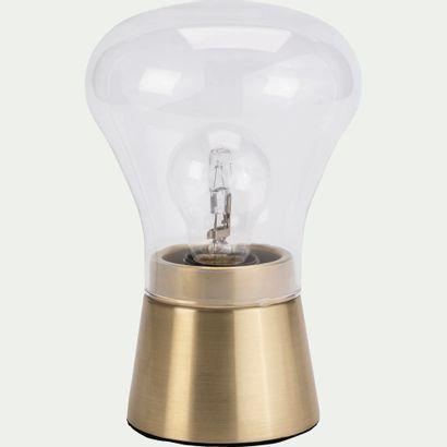 3 x Lampe à poser tactile en laiton brossé...