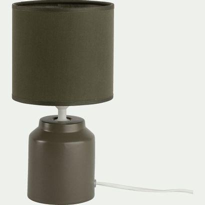 3 x Lampe à poser en céramique vert cèdre...