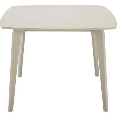 1 x Table carrée de repas 4 places épaisseur plateau 18cm Beige roucas L100 H74cm...