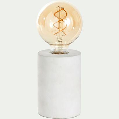 4 x Lampe à poser PRAO en béton blanc H12,5xD9cm...