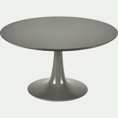 1 x Table basse ronde gris restanque avec...