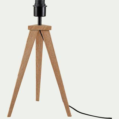 2 x Pied de lampe de table Métal + placage...