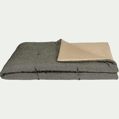 1 x Édredon CORBIN en coton chambray - gris...