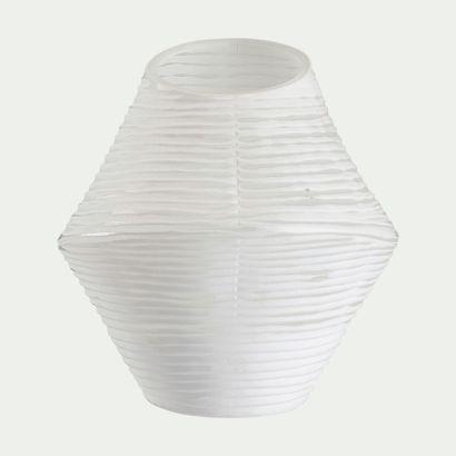 1 x Vase Blanc asymétrique H25cm L22cm P25cm...