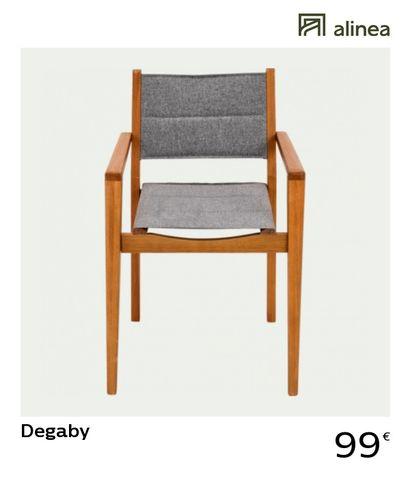 2 x Chaise de jardin DEGABY en eucalyptus...