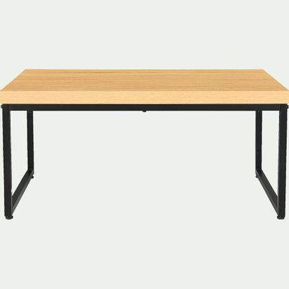 2 x Table basse effet chêne et métal L80cml55cm H37cm  Prix public : 318 €  Pas...