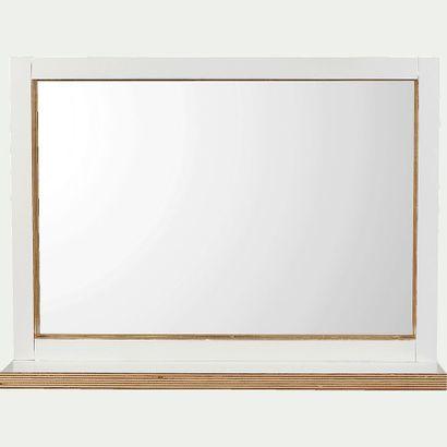 1 x Miroir avec tablette de 9cm - blanc L74xh54cm...