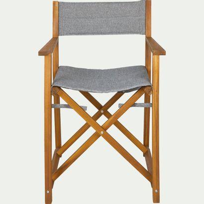 2 x Chaise de jardin régisseur en acacia...