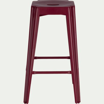 2 x Tabouret de bar en métal rouge L40,4cm...