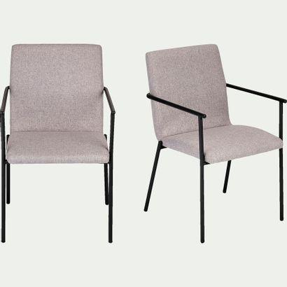2 x Chaise JASPE en tissu avec accoudoirs...
