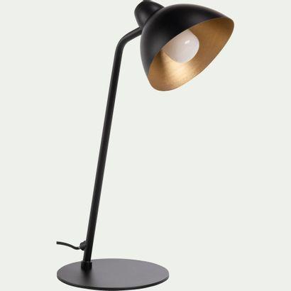 3 x Lampe à poser orientable en métal noir...
