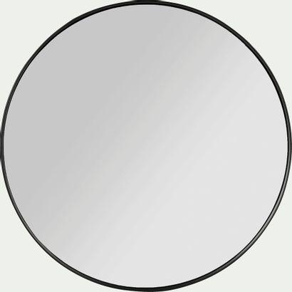 3 x Miroir rond Oundo en bois Noir D30cm...