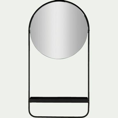 2 x Miroir mural avec tablette  Noir H58cm...