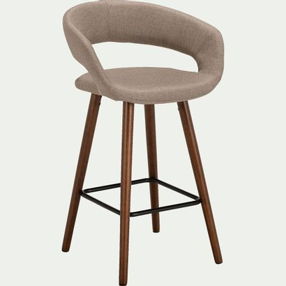 1 x Chaise de bar en tissu avec accoudoirs...