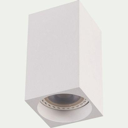 3 x Spot led fixe carrée en aluminium h10xd5,5cm...