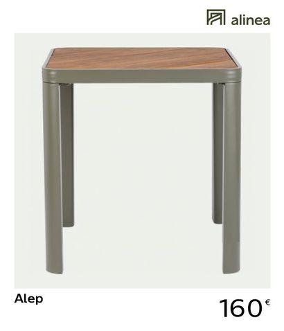 1 x Table de jardin en aluminium - vert cèdre...