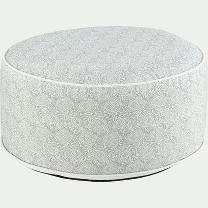 2 x pouf de jardin en tissu à motif - blanc...