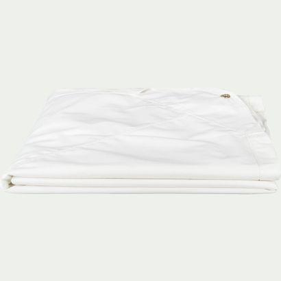 2 x Toile de tonnelle blanche en polyester 3,3m Toile enduite 100% polyester 250g/m²...