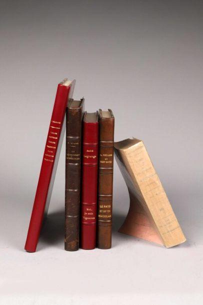 * [Beaujolais]. Ensemble de 5 ouvrages. -...