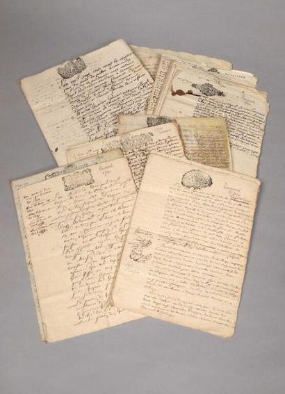 * [Manuscrit]. [Bourgogne]. Famille Garnier,...