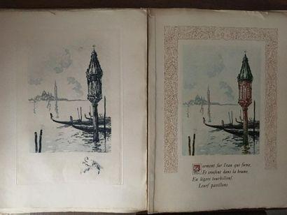 * LE RICHE. MUSSET (Alfred de). Venise. Paris, Henri Le Riche, 1928. In-folio, en...