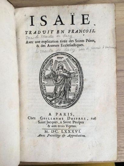 * [Rohan (Anne Marguerite de)]. Bible, A.T., latin-français, 1686]. Isaïe traduit...