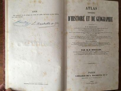 BOUILLET (M.-N.). Atlas universel d'histoire et de géographie. Paris, Hachette,...