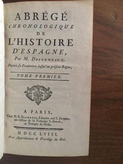 DESORMEAUX (Joseph Louis Ripault). Abrégé chronologique de l'histoire d'Espagne....
