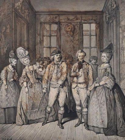 Pierre-Alexandre WILLE (1748-1821). Pierre-Alexandre WILLE (1748-1821). Scène de...