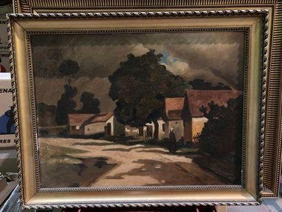 D'après Abel BERTRAM. (1871-1954). Hameau...